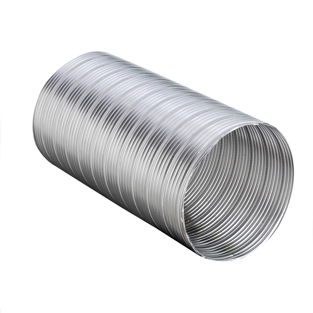 Overbite Flexible Aluminum Duct 6 Inch 25ft Semi Rigid Flexible ...