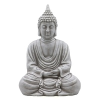 Wholesale customized buddhism statue buddha resin, concrete look polyresin sitting buddha decor$