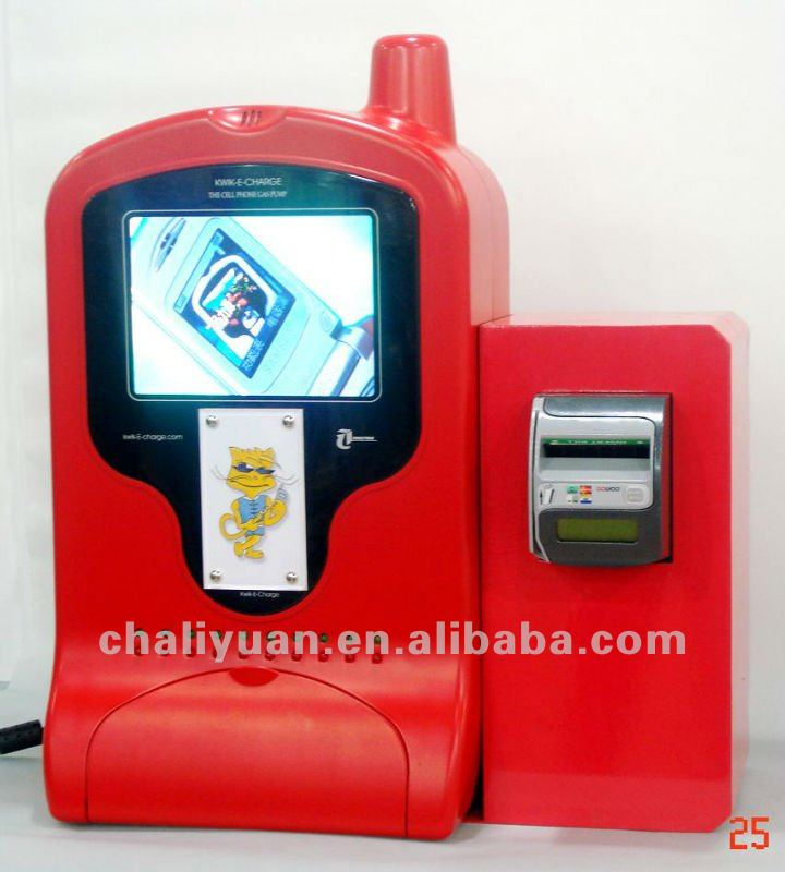 Banknote Advertising Cellphone Charging Machine