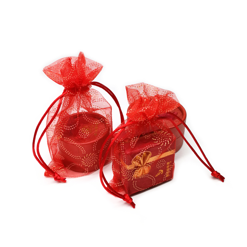 Small Drawstring Mesh Organza pouch Bag for Jewelry Wedding Gift
