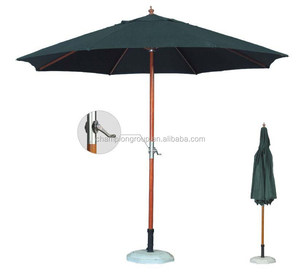 new design of outdoor wood crank umbrella