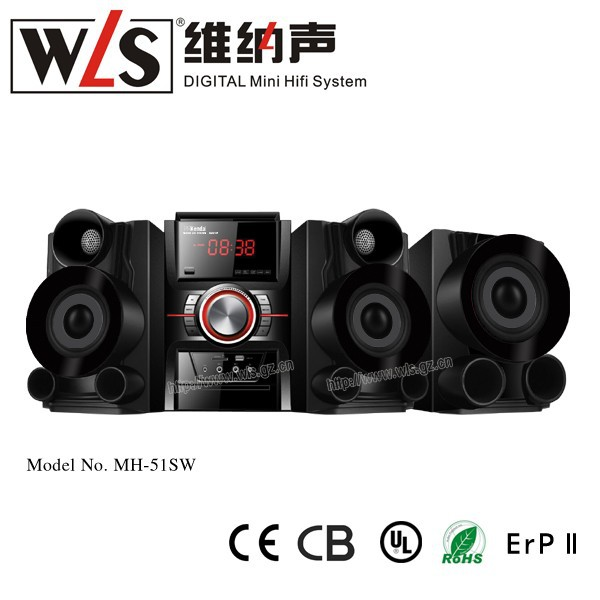 Guangzhou WLS MH-51SW Big Power Speaker with DVD MIC AUX DIVX RMVB