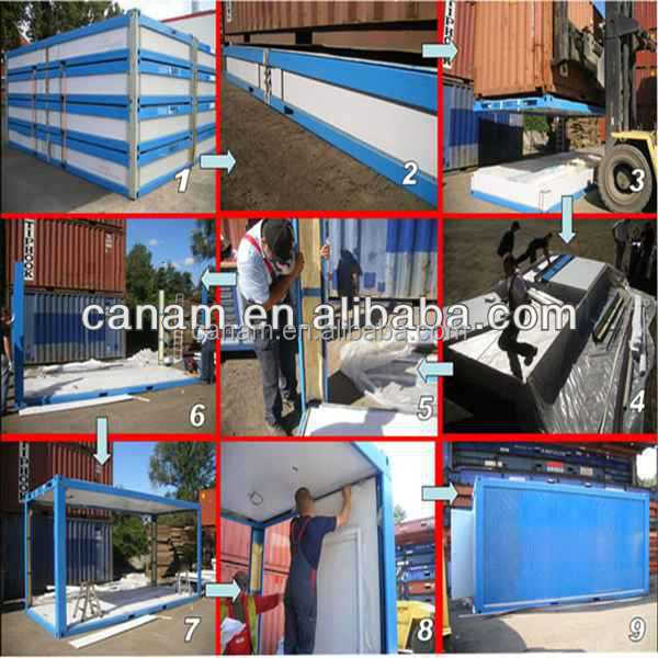 Easy install prefab new sip panel shipping container home
