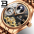 Binger 1175 P Moon Phase Brand Watches Automatic Movement Men Mechanical Watch Luxury Business Tourbillon watch