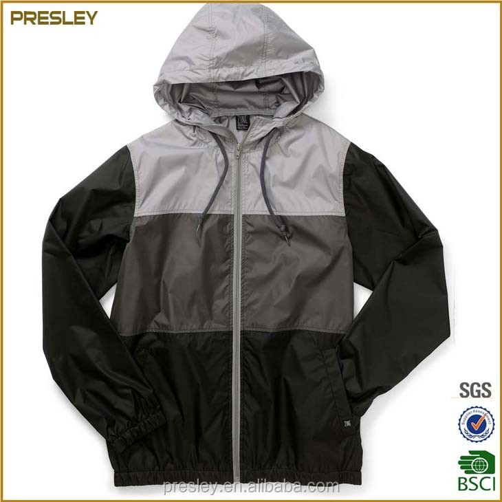 custom waterproof nylon polyester windbreaker jacket with your own logo label for promotion