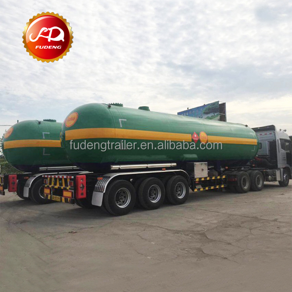 propane gas transport tanker semi-trailer 3 axles lpg semi trailer