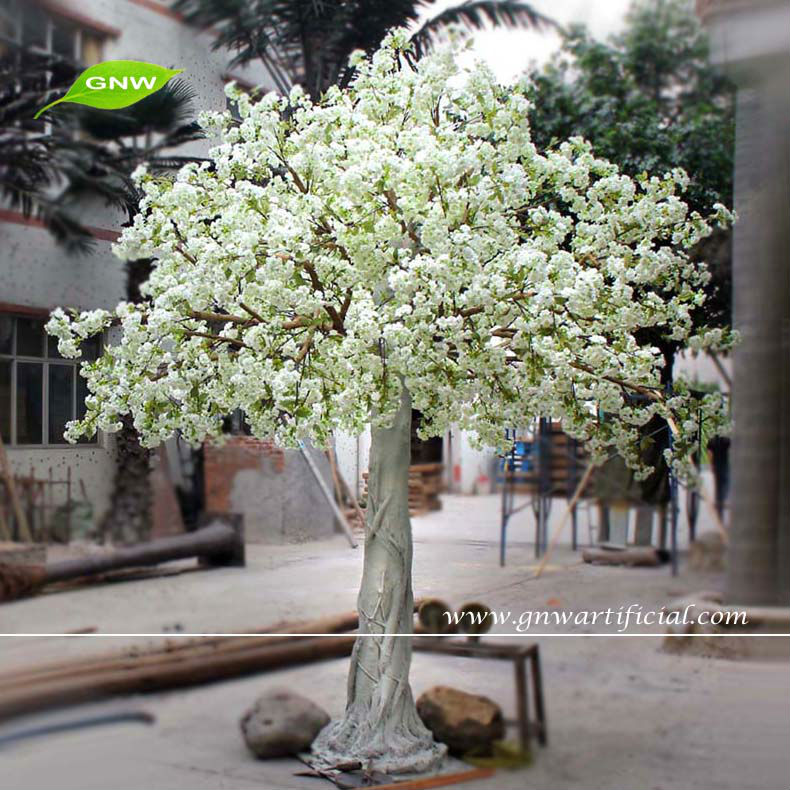 Gnw Bls022 10ft White Decorative Crystal Trees Cherry