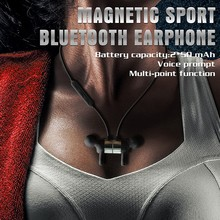 Magnetic bluetooth charging earbuds/headphone wireless USB micro charging port headphone R1615