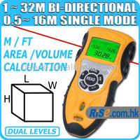 Bidirectional Ultrasonic Range Laser Measure Length Area Volume Distance Meter