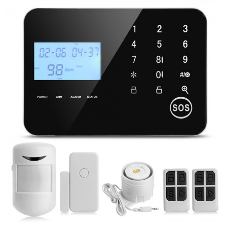 Wireless Wired GSM+PSTN Home Burglar Alarm System Android IOS APP Controlled