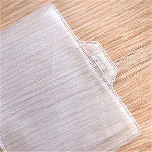 Clear Plastic Name Tag Business ID Card Holder
