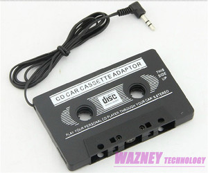 3.5mm jack CAR Audio CASSETTE TAPE ADAPTER For iPhone Samsung Galaxy Nano MP3 IPOD NANO CD IPHONE