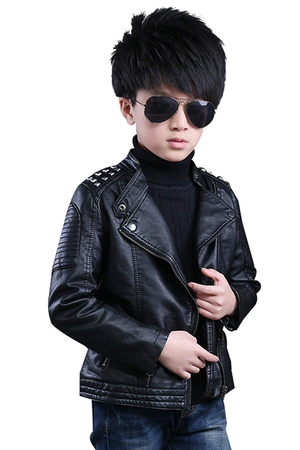 e4786760b Cheap Girls Faux Leather Motorcycle Jacket