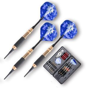 China Professional Indoor&Outdoor Game Plastic Soft Tip Dart Shafts Darts Game Accessories Dart Flights with Case
