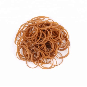 38mm natural color Vietnam natural rubber good stretch silicone hair band