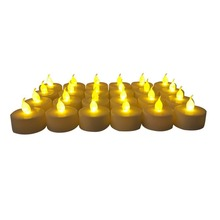 Flameless Heatless Faux Wedding Holiday Thanksgiving Party Light Dozen tea light candle