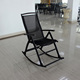 New Design Outdoor Mesh Rocking Chairs With Teak Wood Arm