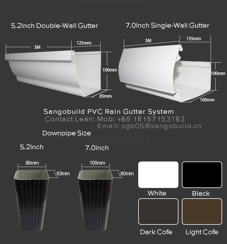 Coc Soncap Standard 5 2inch 7inch Colored K Style Pvc Rain
