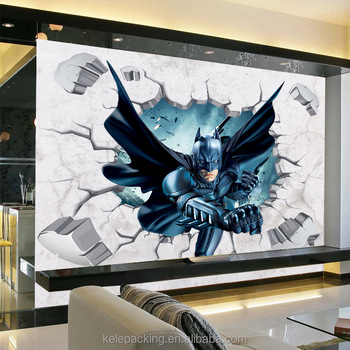 3d batman wall sticker for baby room