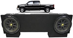 Chevy Silverado 99-06 Ext Cab Truck Custom Dual 10 Rhino Subwooofer Bass Sub Box