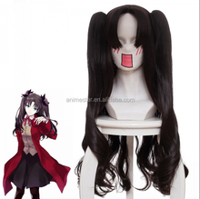 Good quality fate stay night anime cartoon cosplay hair brown long wig