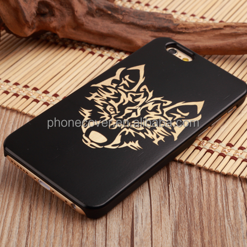General Mobile 4g Phone Bag Case Black Bamboo Wooden Back Cover Phone Case for iPhone 8