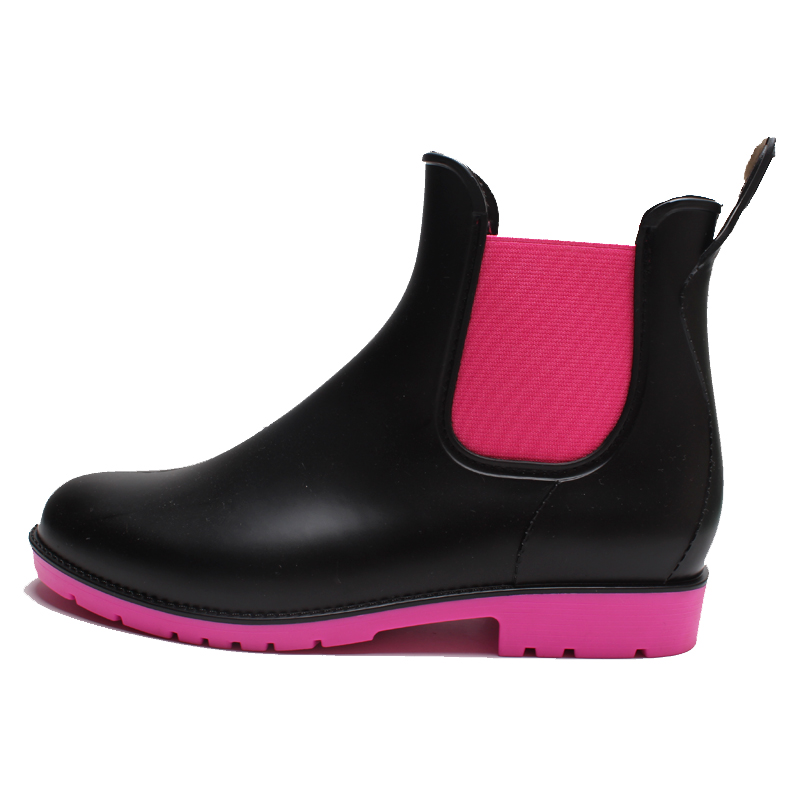 Customized pvc fashion jelly rain boots shoes