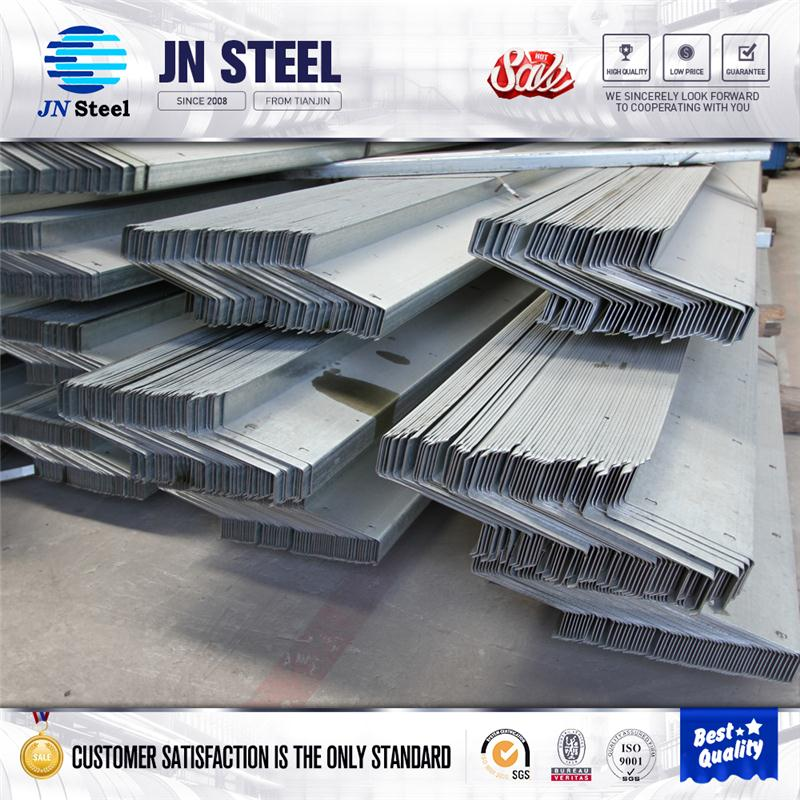 Steel Structure Used Z Shaped Cold Formed galvanized holes Steel Purlin