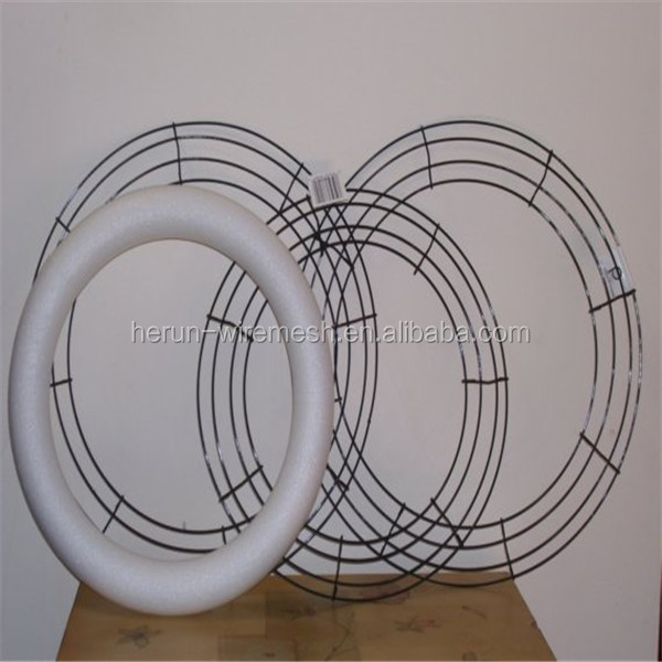 hr 12 soft touch round clamp style metal wire wreath frames - Wire Wreath Frames