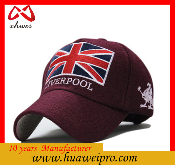 Alibaba china oem top quality baseball caps uk of winter wool hats
