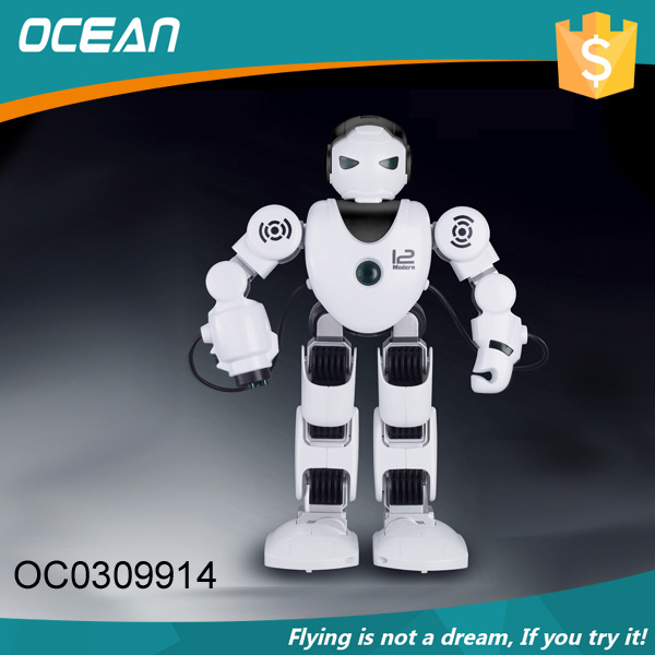 New product plastic music big remote control smart robot with walk function