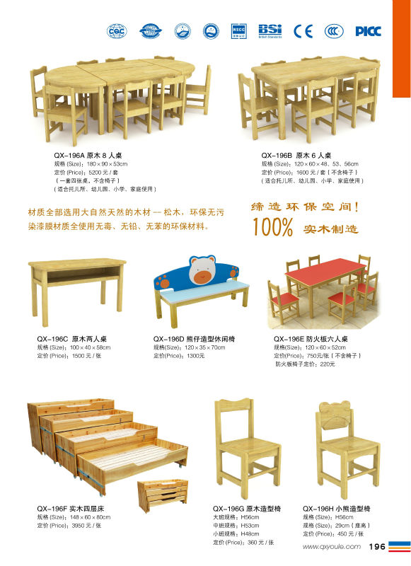 wholesale wood tables and chairs children kindergarten wood kids ...