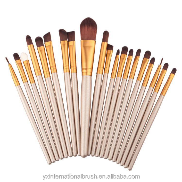 20 stks eye brush set houten handvat make-up borstel make up borstel set professionele