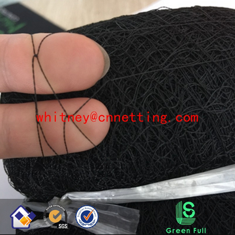 110D/2ply 2.1x12m 3 pockets Black Nylon Mesh Anti Bird Mist Net Protect Agricultural Orchard