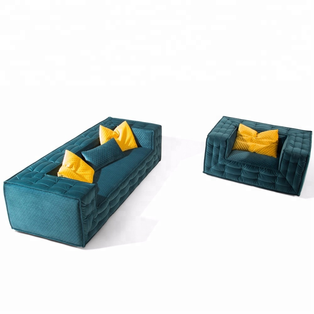 Nordic Modern Green Quilted Velvet Low Back Padded Track Arm Long Tufted  Sofa - Buy Green Nordic Velvet Sofa,Long Quilted Sofa,Green Quilted Velvet  ...