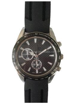 0da43f90bf4 unisex stainless steel back quartz watch silicone band japan movt men women  analog wrist watch water