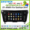 ZESTECH OEM in-dash pure android 4.4.4 car dvd for NISSAN Qashqai 2014 android car radio with wifi bluetooth 3g wifi