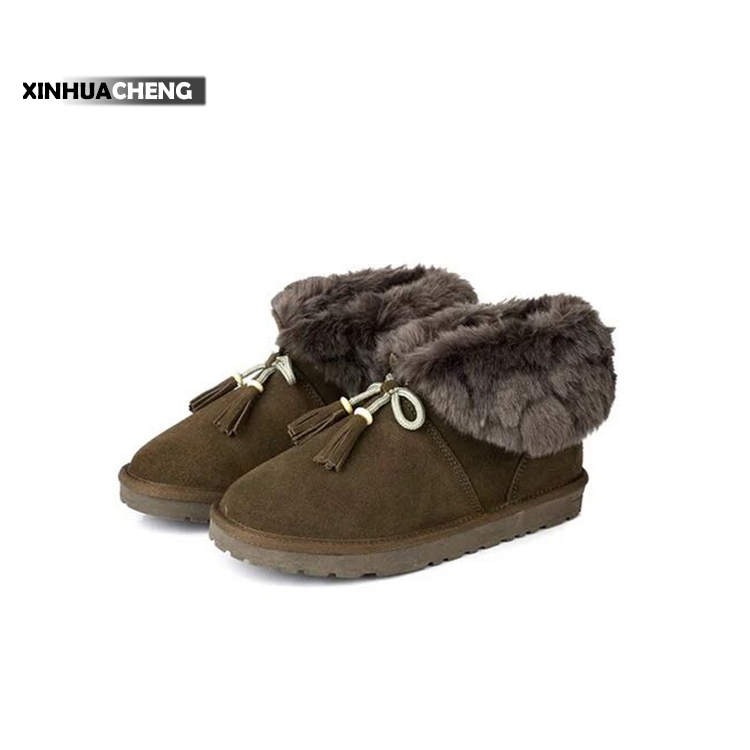 female casual shoes easy walk nubuck leather snow boots