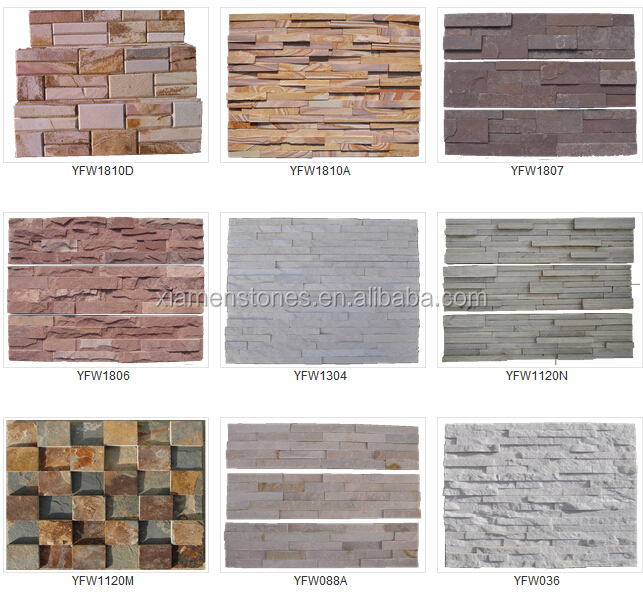 Natural Stone Rusty Interior And Exterior Decorative Brick