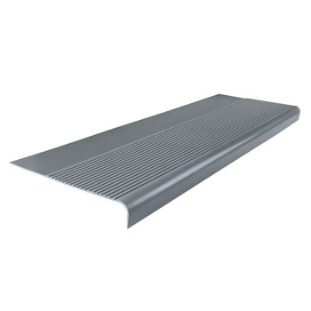 Safety Anti Kid Square Nose Stair Tread Cover Non Slip Grey Stair Nosing
