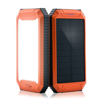 new OEM Unique Waterproof Mobile Cell Phone Portable Charger Solar Power Bank Charger 10000mah High with LED Light power banks