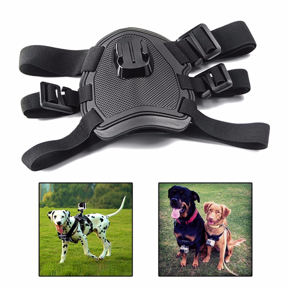Action camera Accessories Dog Fetch Harness Chest Strap Shoulder Belt Mount For Go Pro 4 3 2 SJ4000 WIFI sport Camera
