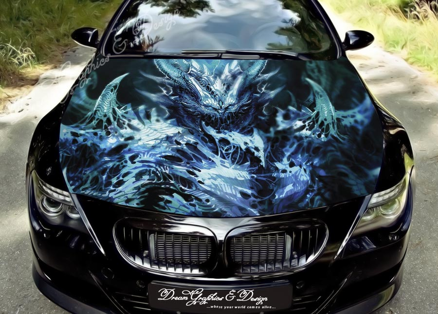 Custom Digital Printing Race Car Graphics Vinyl Sticker Wrap For Decoration
