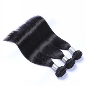 high quality long hair artificial women hair , 40 inch virgin hair indian temple hair , wholesale straight hair weave