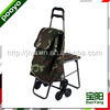 Climb Stairs Folding Shopping Trolley Bag With Chair