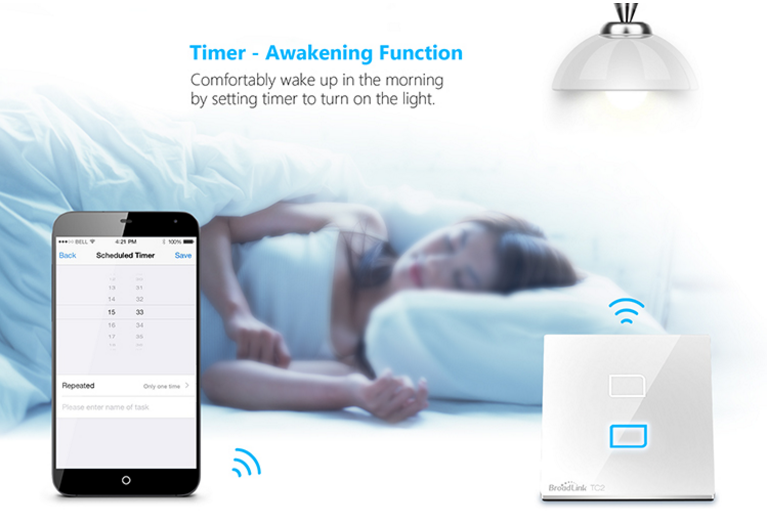 Best selling products BroadLink TC1 UK Standard 1 gang Smart Switch app controlled touch sensor Wifi wall light switch