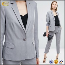 Ecoach 2016 high quality women One button closure skinny Tailored Fitted formal Blazer Notch lapels collar office blazer
