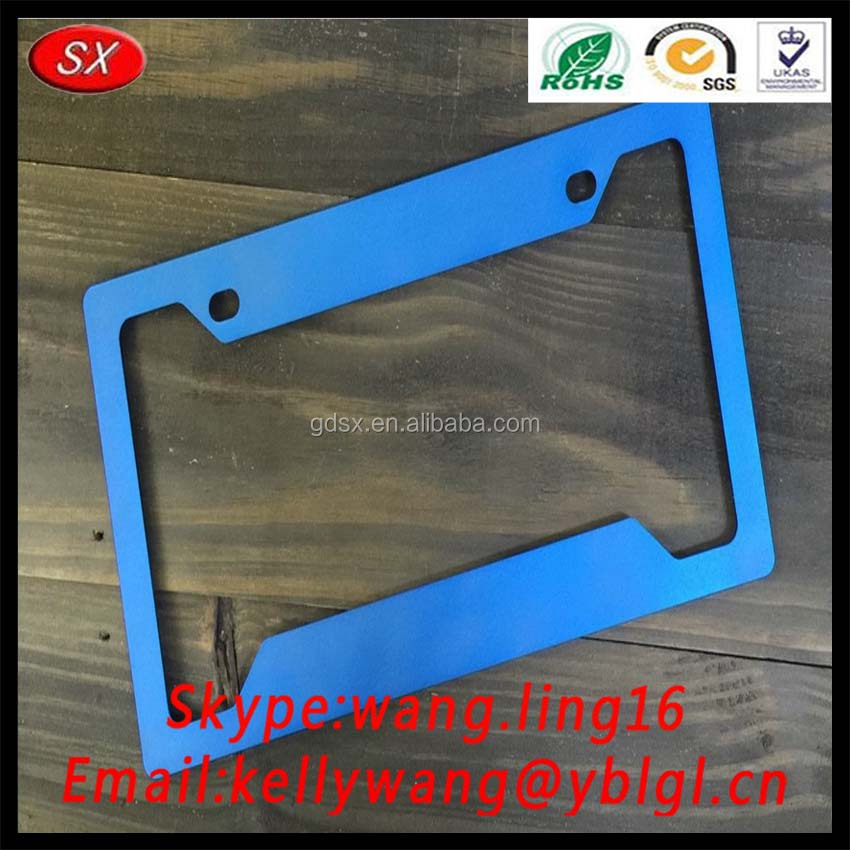 Custom Stainless Steel Motorcycle Car License Plate Frame,Metal Plate Frame