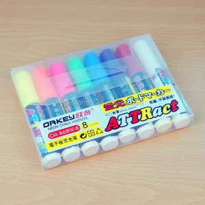 custom led marker pen erasable liquid chalk pen promotional advertising lighting board neon pen