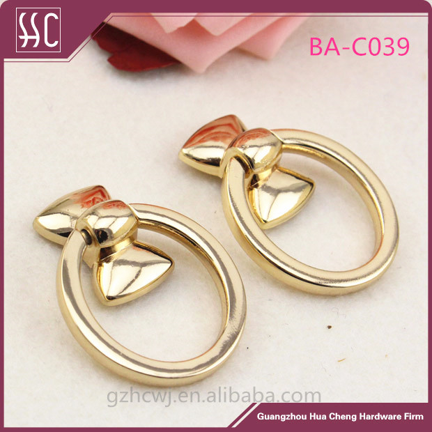 metal bag accessory,gold ring, Guangzhou hardware bag decoration
